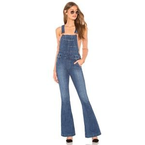 Free People Carly Flare Leg Long Overalls 28